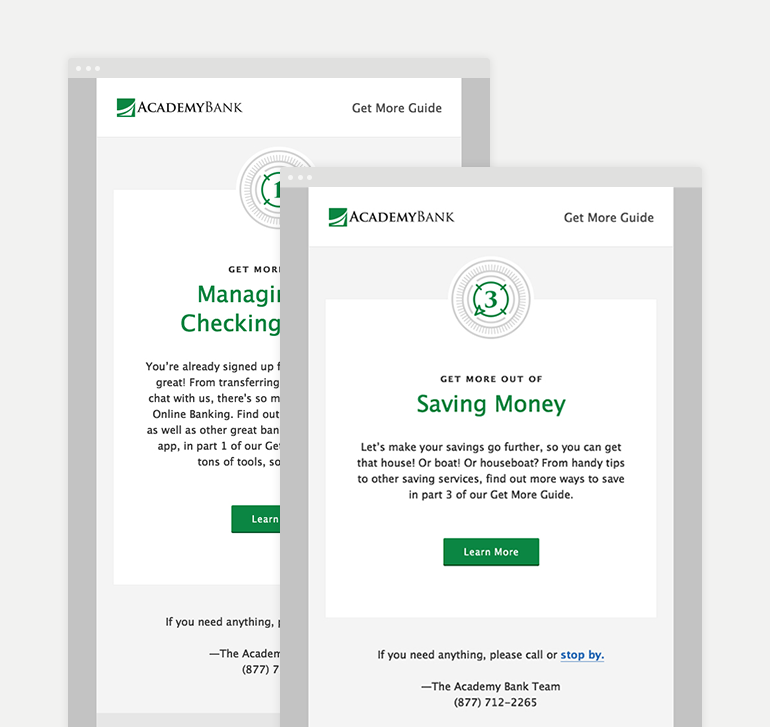 Bank Customer Onboarding Microsite & Email Campaign Series - Johny Lightning Strikes Again